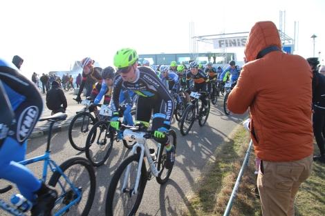 Sven was goed weg na het startschot.
